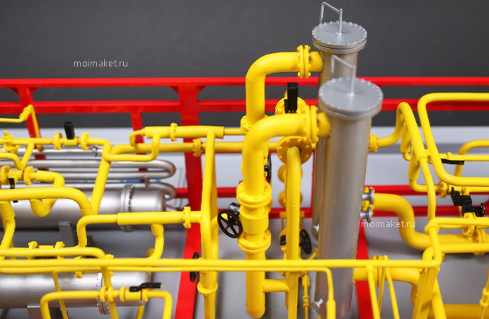 Gas treatment unit of gas station model