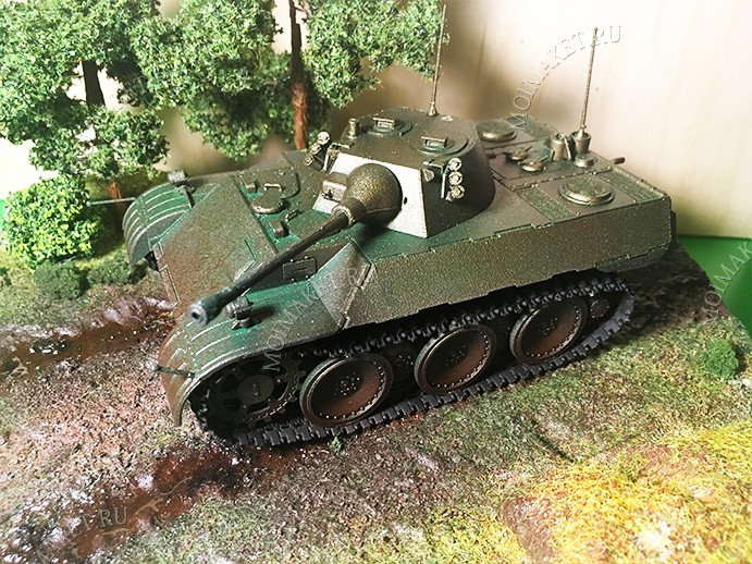 Imitation of armored fighting vehicle on the model