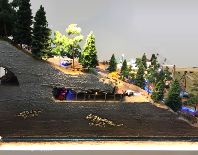 rock cross-sectional view on the model