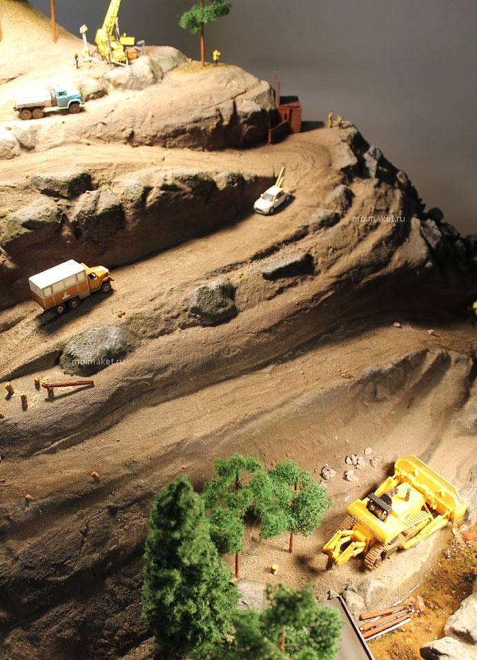 Mountain road on the model