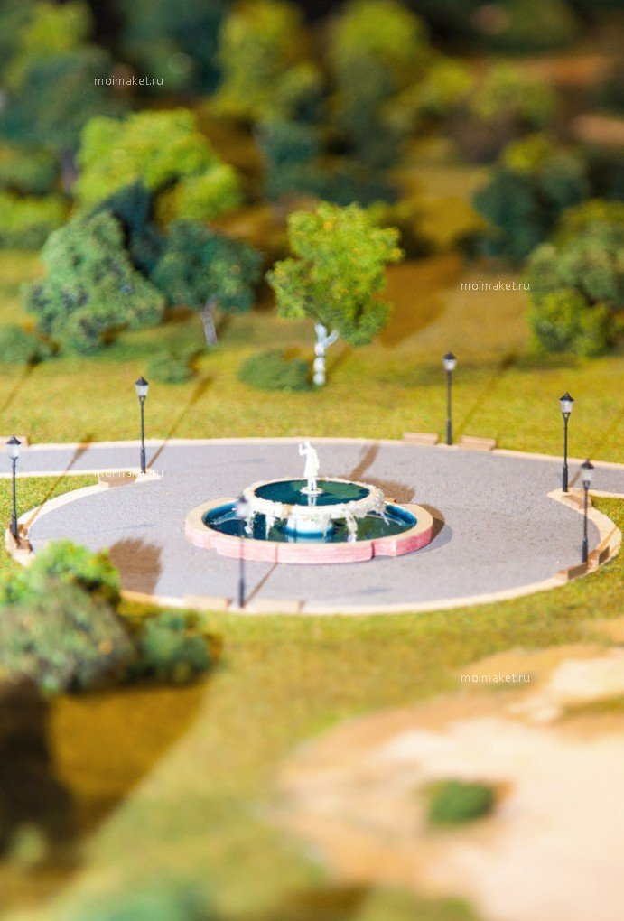 Fountain on the model