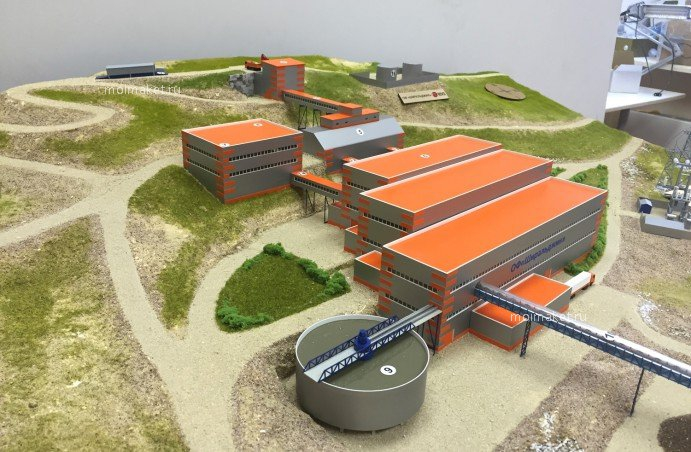 Model of concentrating factory