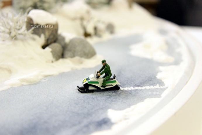 Snowmobile on the winter model