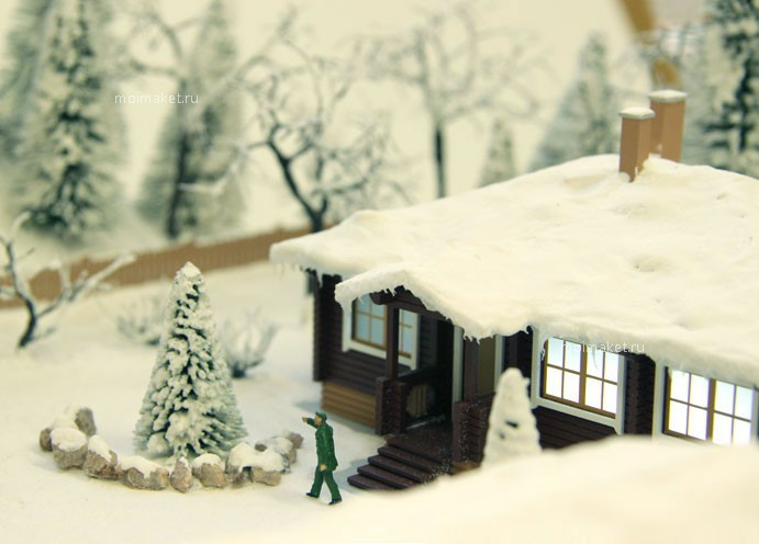 Model of the winter yard
