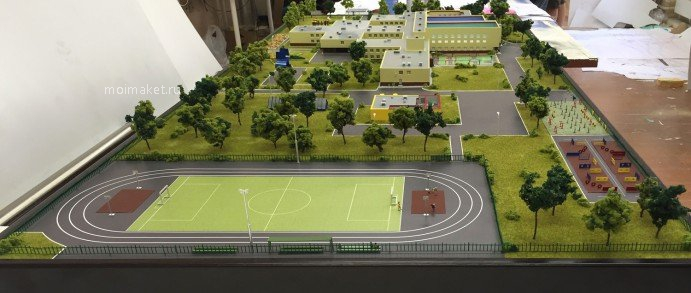 Model of school grounds