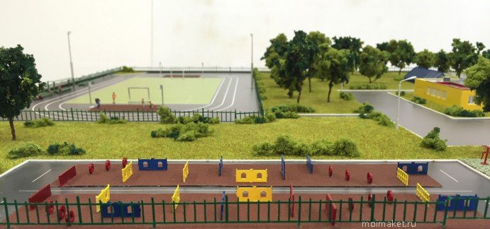 School obstacle course on the model