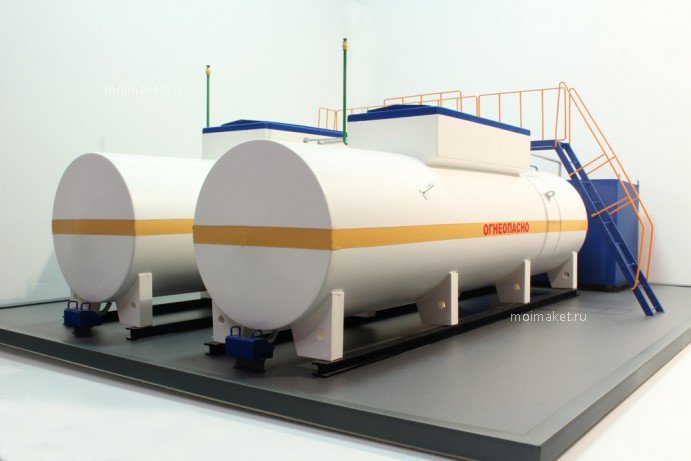 Rear of the fuel storage system model