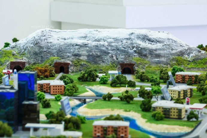 Mountain on the model