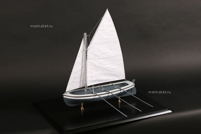 Sails on the boat model