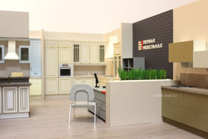 Kitchen trading stand model