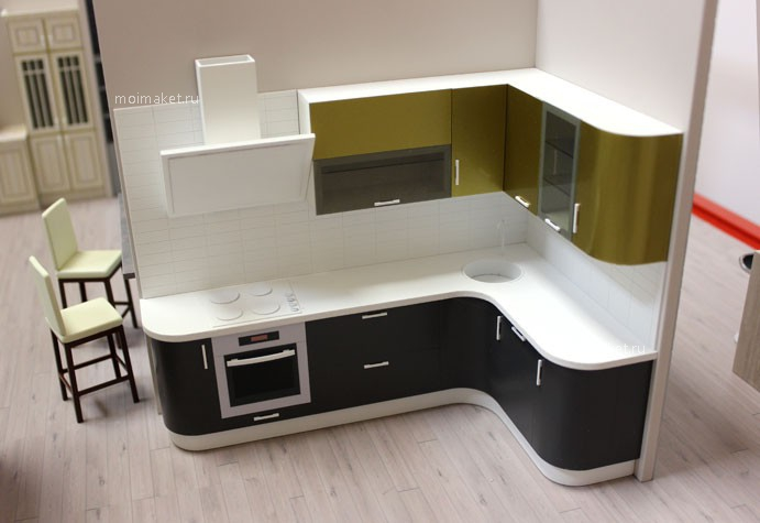 Highly detailed kitchen model