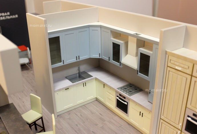 Kitchen model for trading stand