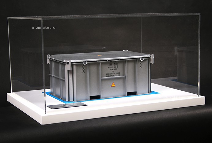 Model of shielding metal container