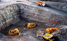 Model of granite quarry - фото