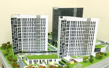 Model of residential complex - фото