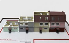 Model of townhouse - фото
