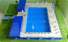 Model of outdoor swimming pool - фото