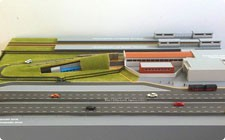 Model of Kupchino metro station - фото