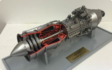 Model of AI-20 aviation engine - фото