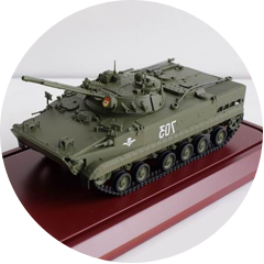 models of military equipment and weapons