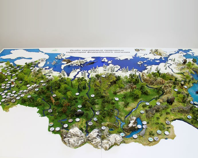 Model of the nature reserves of Russia - photo