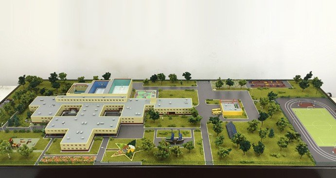 School building model - photo