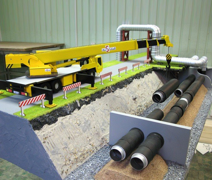 Pipe layer model - photo
